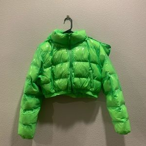 Current Mood ACID LIMELIGHT PUFFER JACKET